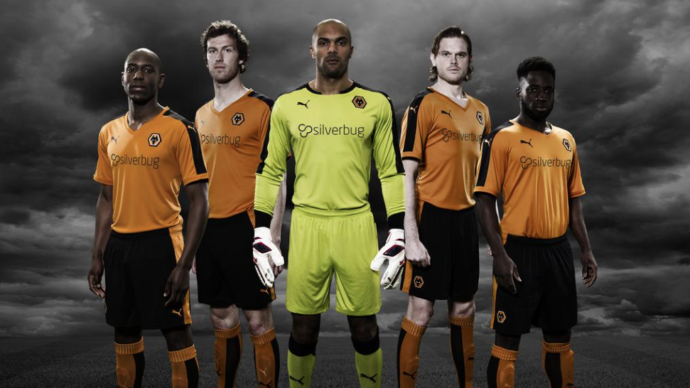 Wolves team in new Silverbug jerseys
